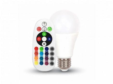 V-TAC színváltós RGB+ meleg fehér LED lámpa izzó 6W / E27 - 7324