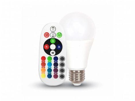 V-TAC színváltós RGB+ hideg fehér LED lámpa izzó 6W / E27 - 7326