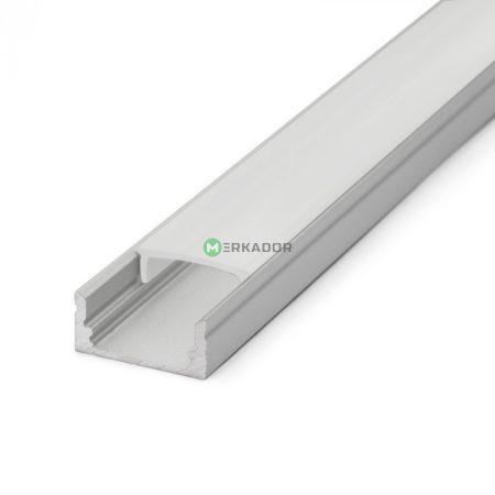Alumínium profil szett LED szalaghoz fehér fedlappal 2m - 3370