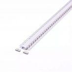 Gipszkartonba építhető 2m LED alumínium profil fehér fedlappal - 3359