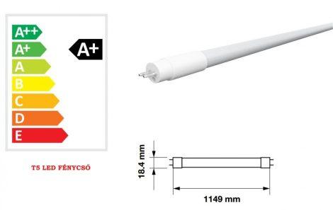 V-TAC T5 LED fénycső 115 cm 16W - hideg fehér - 6321