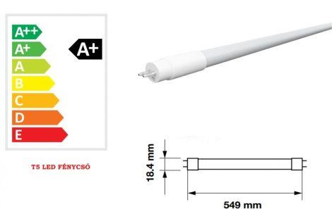 V-TAC T5 LED fénycső 55 cm 8W - hideg fehér - 6319