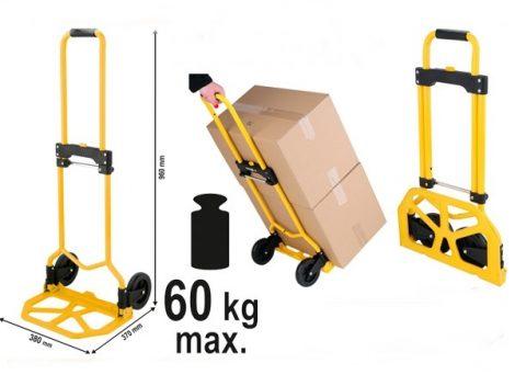 Összecsukható szállító kocsi, teherhordó kézikocsi 60kg-ig