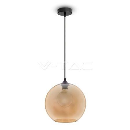 V-TAC Globe Amber mennyezeti gömb alakú üveg csillár - 3866