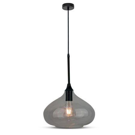V-TAC Modern Sleek mennyezeti üveg csillár, sötét - 3885
