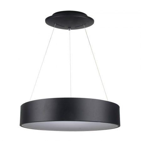 V-TAC 30W fényerőszabályozható csillár, fekete mennyezeti LED lámpa - 3996
