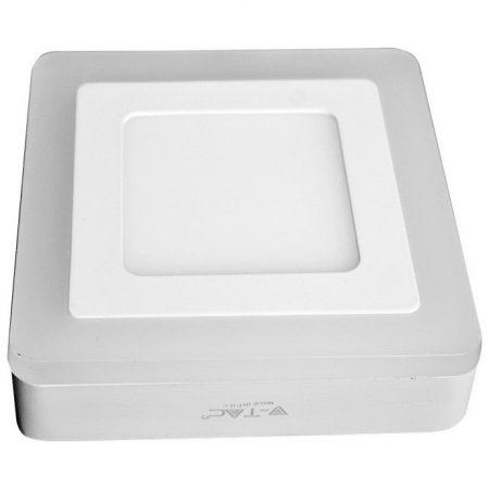 V-TAC Twin mennyezeti, szögletes LED panel 15W - meleg fehér - 4925
