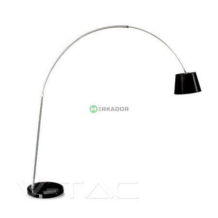 V-TAC fekete minimál stílusú állólámpa E27 foglalattal márvány talppal - 8564