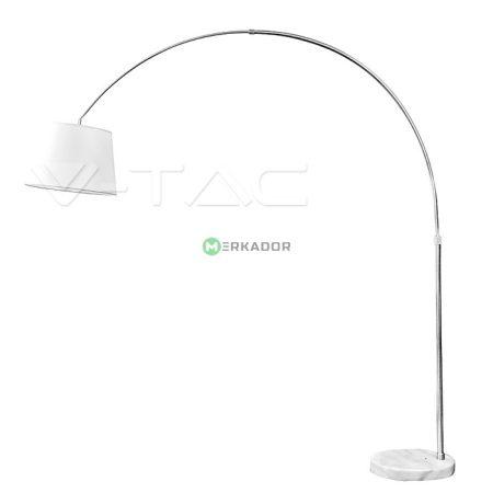 V-TAC minimál stílusú fehér állólámpa E27 foglalattal márvány talppal - 8565