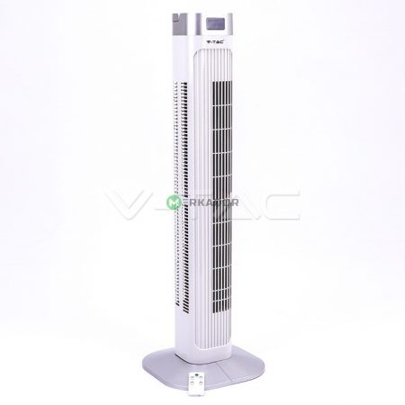 V-TAC torony ventilátor 91 cm, távirányítós digitális oszlopventilátor - 7900
