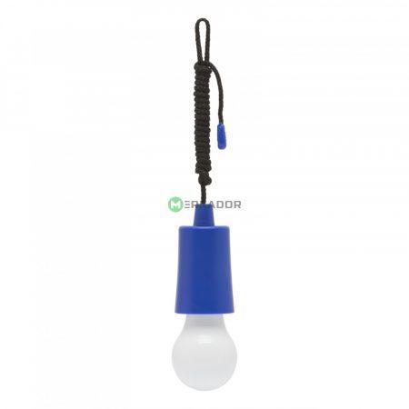 Húzókapcsolós elemes LED lámpa - világoskék