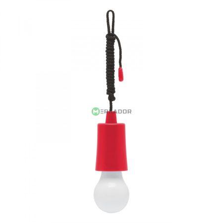 Húzókapcsolós elemes LED lámpa - piros