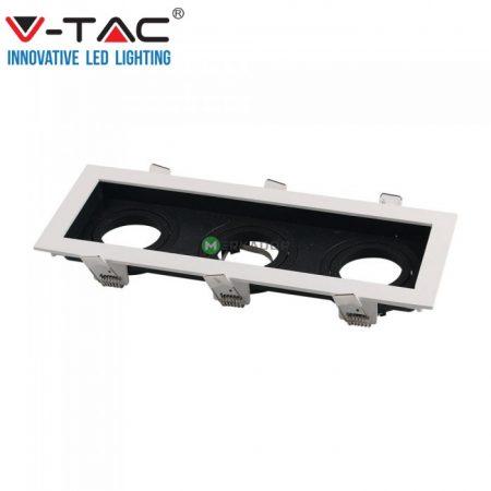 V-TAC 3xGU10 billenthető, süllyeszthető keret, fekete-fehér - 8878