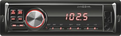 VoXob MP3 lejátszó autórádió, SD / USB olvasó autós fejegység - vörös