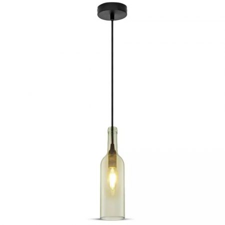 V-TAC mennyezeti üveg palack csillár - átlátszó - 3771