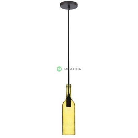 V-TAC mennyezeti üveg palack csillár - sárga - 3773