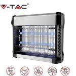 V-TAC elektromos rovarölő, szúnyogirtó - szúnyogriasztó UV lámpa, 2x8W - 11179