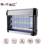 V-TAC elektromos rovarölő, szúnyogirtó - szúnyogriasztó UV lámpa, 2x10W - 11180