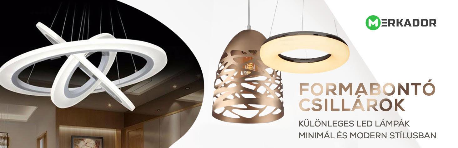 Asztali LED lámpák és mennyezeti csillárok